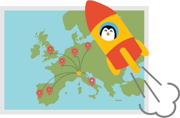 Pingui wwt around the world